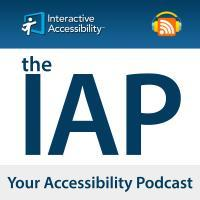 "logo ""The IAP Your Accessibility Podcast"""